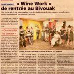 Zoom sur les Wine Work du Bivouak'